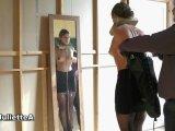 Amateurvideo Holzpranger und Fesselsack von JulietteA